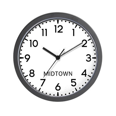 Midtown Newsroom Wall Clock