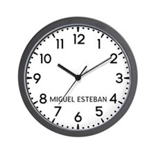 Miguel Esteban Newsroom Wall Clock