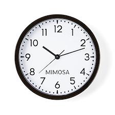 Mimosa Newsroom Wall Clock