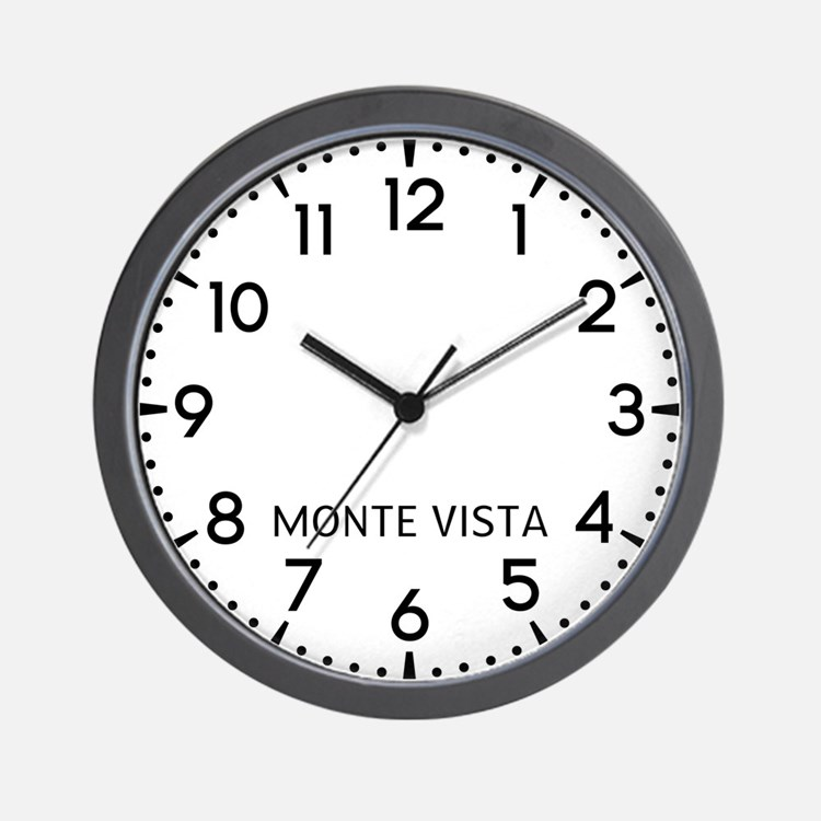 Monte Vista Newsroom Wall Clock