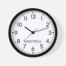 Montreal Newsroom Wall Clock