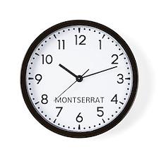 Montserrat Newsroom Wall Clock