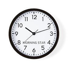 Morning Star Newsroom Wall Clock
