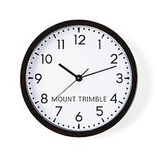 Mount Trimble Newsroom Wall Clock