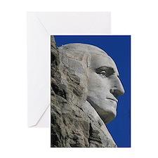 George Washington Mount Rushmore Greeting Card