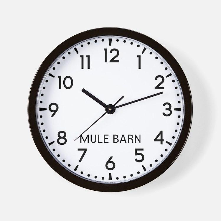 Mule Barn Newsroom Wall Clock