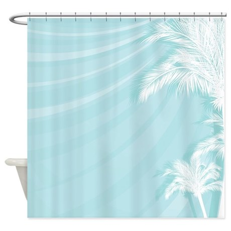 tropical breeze aqua shower curtain by turquoisedreams