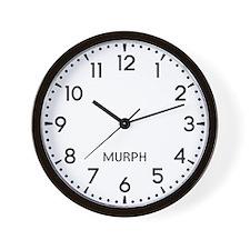Murph Newsroom Wall Clock