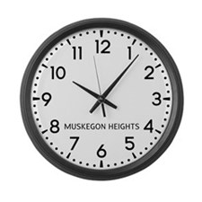 Muskegon Heights Newsroom Large Wall Clock