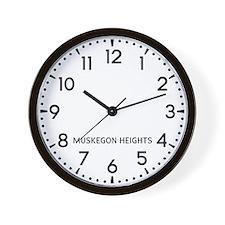Muskegon Heights Newsroom Wall Clock