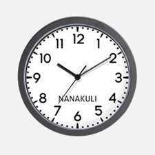 Nanakuli Newsroom Wall Clock