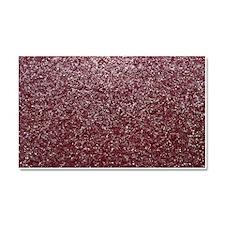Red Glitters Car Magnet 20 x 12