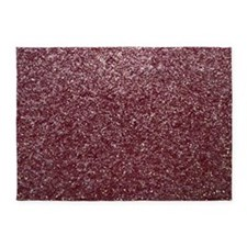 Red Glitters 5'x7'Area Rug