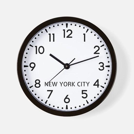 New York City Newsroom Wall Clock