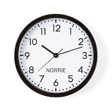 Norrie Newsroom Wall Clock