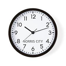 Norris City Newsroom Wall Clock
