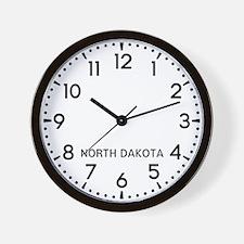 North Dakota Newsroom Wall Clock