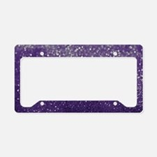 Purple Glitter  Bokeh License Plate Holder