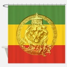 Rasta Colors Ethiopian Lion Shower Curtain