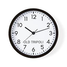 Old Tripoli Newsroom Wall Clock