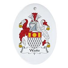 Watts Oval Ornament