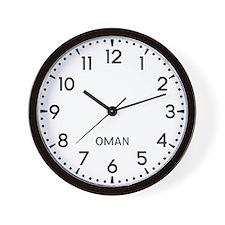 Oman Newsroom Wall Clock