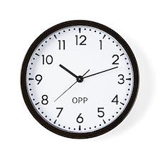 Opp Newsroom Wall Clock