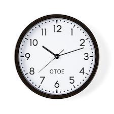 Otoe Newsroom Wall Clock