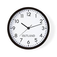 Outland Newsroom Wall Clock