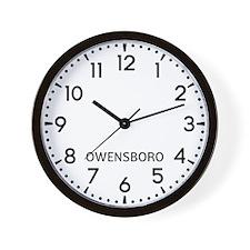 Owensboro Newsroom Wall Clock