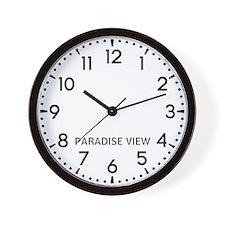 Paradise View Newsroom Wall Clock