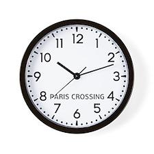 Paris Crossing Newsroom Wall Clock