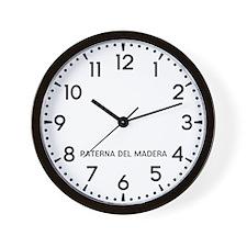 Paterna Del Madera Newsroom Wall Clock