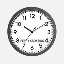 Perry Crossing Newsroom Wall Clock