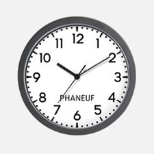 Phaneuf Newsroom Wall Clock