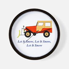 Let It Snow Plow Wall Clock