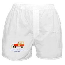Let It Snow Plow Boxer Shorts