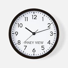 Piney View Newsroom Wall Clock