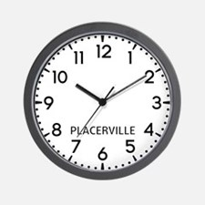 Placerville Newsroom Wall Clock