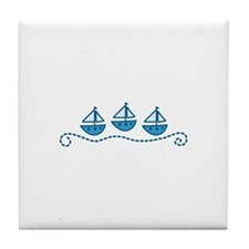Sailboats Tile Coaster