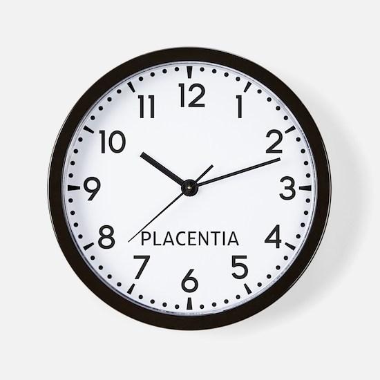 Placentia Newsroom Wall Clock