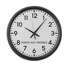 Pointe Aux Tremble Newsroom Large Wall Clock