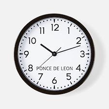 Ponce De Leon Newsroom Wall Clock