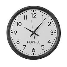 Popple Newsroom Large Wall Clock