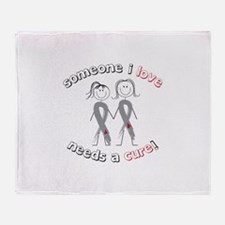 Someone I Love Needs A Cure! Throw Blanket