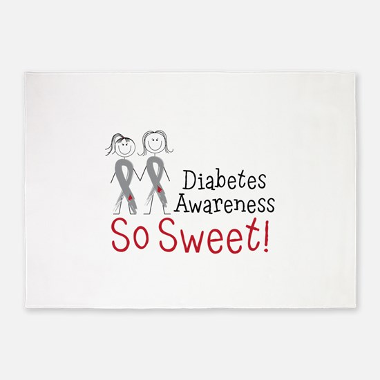 Diabetes Awarness So Sweet 5'x7'Area Rug