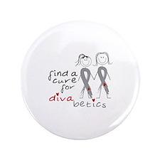 "Find A Cure For Divabetics 3.5"" Button"