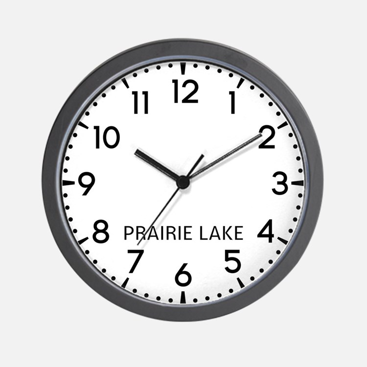 Prairie Lake Newsroom Wall Clock