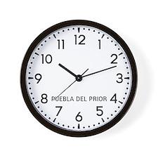 Puebla Del Prior Newsroom Wall Clock