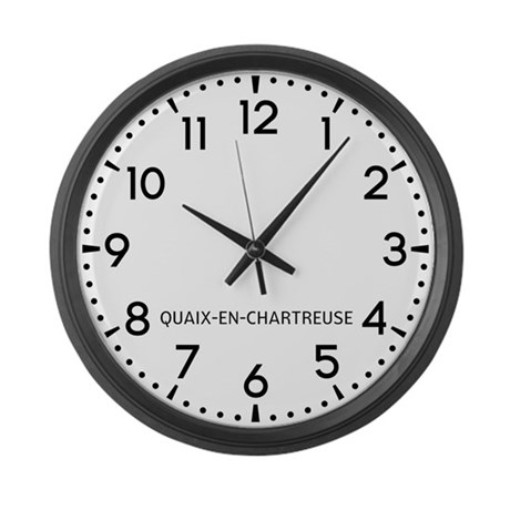 Quaix-En-Chartreuse Newsroom Large Wall Clock